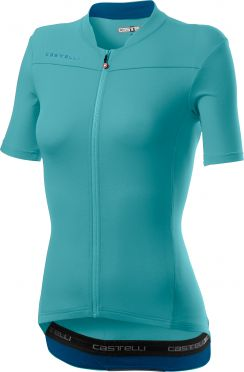 Castelli Anima 3 SS fietsshirt celeste blauw dames