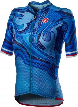 Castelli Climber's 2.0 FZ fietsshirt blauw dames