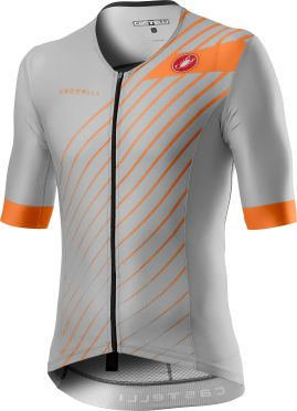 Castelli Free speed 2 race tri top zilvergrijs heren