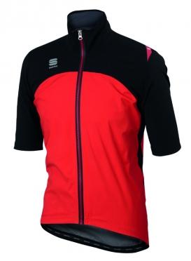 Sportful Fiandre windstopper LRR fietsjack korte mouw zwart/rood heren