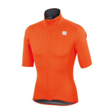Sportful Fiandre light norain korte mouw fietsshirt oranje heren