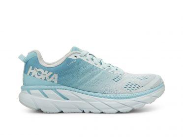 Hoka One One Clifton 6 wide hardloopschoenen blauw/grijs dames