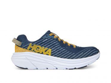 Hoka One One Rincon hardloopschoenen blauw/geel heren