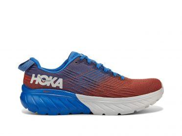 Hoka One One Mach 3 hardloopschoenen blauw/rood heren