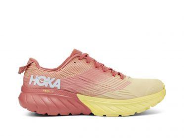 Hoka One One Mach 3 hardloopschoenen roze/geel dames