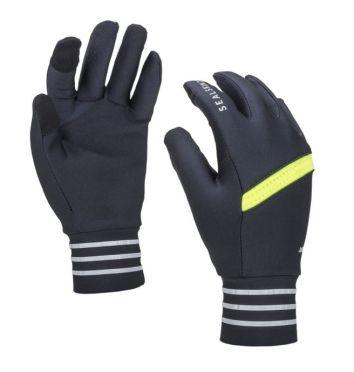 SealSkinz solo reflective handschoenen zwart/neon geel