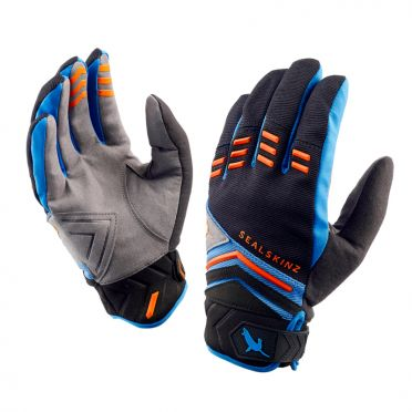 SealSkinz Dragon eye MTB fietshandschoenen zwart/blauw/oranje