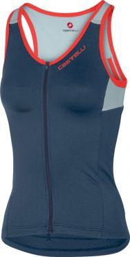 Castelli Solare top mouwloos blauw/grijs dames