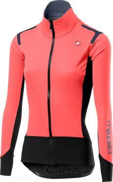 Castelli Alpha ros W fietsshirt lange mouw roze dames
