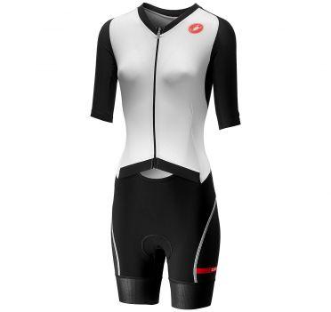 Castelli All out W speed trisuit korte mouw wit/zwart dames