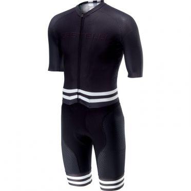 Castelli Sanremo 4.0 speed suit korte mouw zwart/wit heren