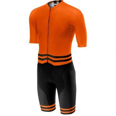 Castelli Sanremo 4.0 speed suit korte mouw oranje/zwart heren