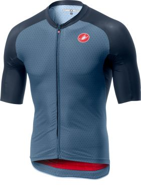 Castelli Aero race 6.0 FZ korte mouw shirt blauw heren