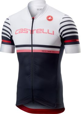 Castelli Free AR 4.1 FZ fietsshirt wit/zwart heren