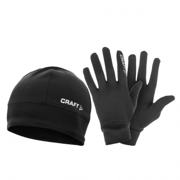 Craft Winter hardloop cadeauset thermo muts + thermo handschoenen