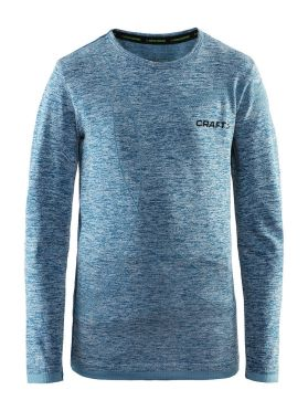 Craft Active Comfort lange mouw ondershirt blauw/teal kind/junior