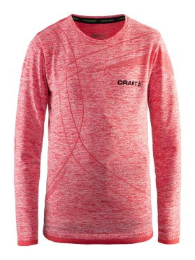 Craft Active Comfort lange mouw ondershirt rood/poppy kind/junior