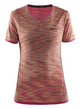 Craft Active Comfort korte mouw ondershirt roze/push dames