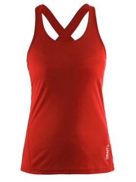 Craft Mind mouwloos hardloopshirt rood dames