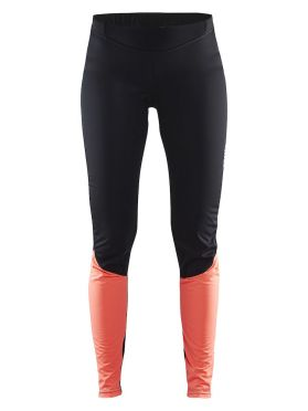Craft Velo thermal wind tight zwart/roze dames