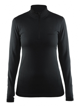 Craft Active Comfort Zip lange mouw ondershirt zwart/solid dames