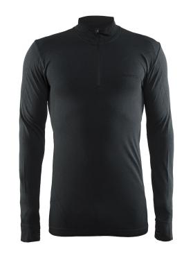 Craft Active Comfort Zip lange mouw ondershirt zwart/solid heren