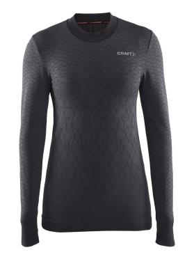 Craft Warm wool comfort lange mouw ondershirt zwart dames