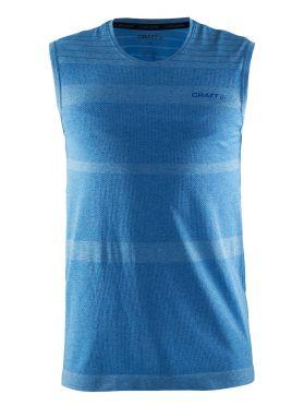 Craft cool comfort mouwloos ondershirt blauw heren