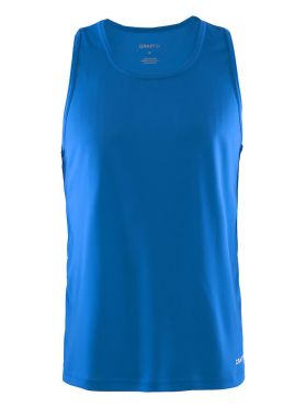 Craft Mind mouwloos hardloopshirt blauw heren