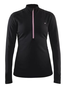 Craft Sweep halfzip Skipully zwart/roze dames