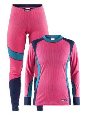 Craft Active onderkleding voordeel set roze/blauw dames