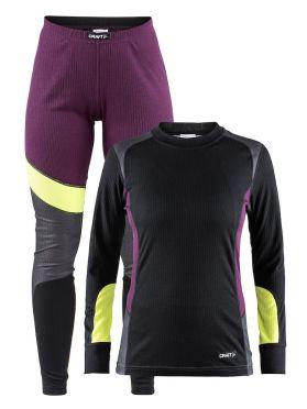 Craft Active onderkleding voordeel set zwart/paars dames
