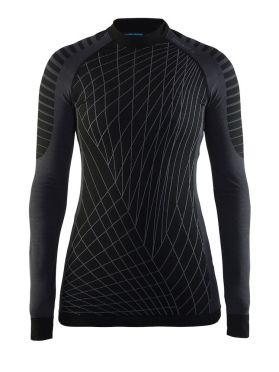 Craft Active intensity crewneck lange mouw ondershirt zwart/granite dames