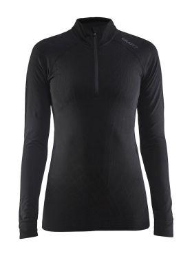 Craft Active intensity zip lange mouw ondershirt zwart dames
