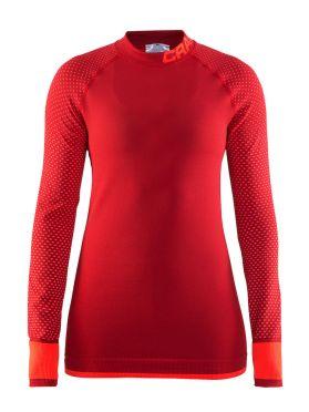 Craft warm intensity CN lange mouw ondershirt rood dames