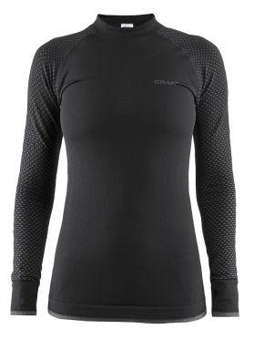 Craft warm intensity CN lange mouw ondershirt zwart dames