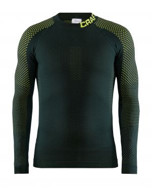 Craft warm intensity CN lange mouw ondershirt groen/geel heren