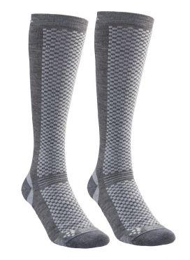 Craft warm hoge sokken gray 2-pack