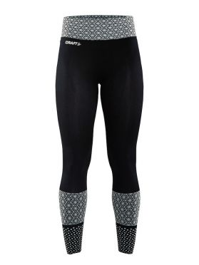 Craft Core block tight hardloopbroek zwart/wit dames