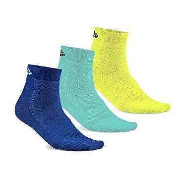 Craft Greatness Mid Sokken blauw/groen/geel 3-Pack