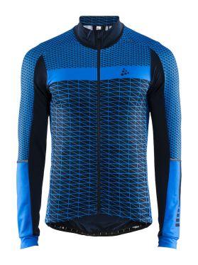 Craft Route fietsshirt lange mouw blauw heren