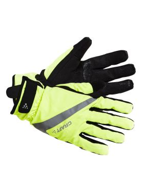 Craft Rain 2.0 fietshandschoenen geel/zwart unisex