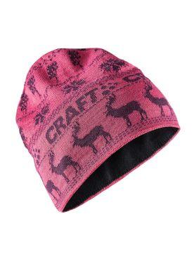 Craft Retro knit muts roze