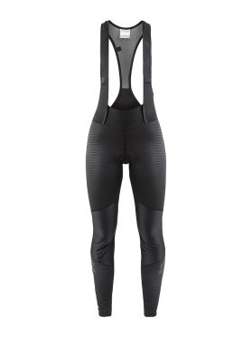 Craft Ideal wind bibtight fietsbroek zwart/strepen dames
