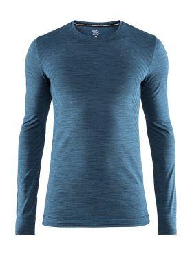 Craft Fuseknit comfort lange mouw ondershirt blauw/fjord heren