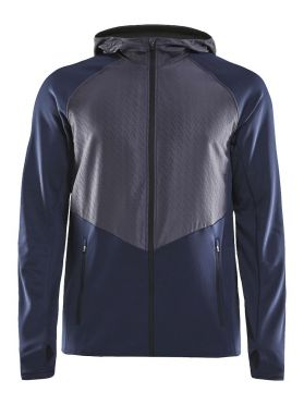 Craft Charge Sweat hood hardloopjack blauw heren