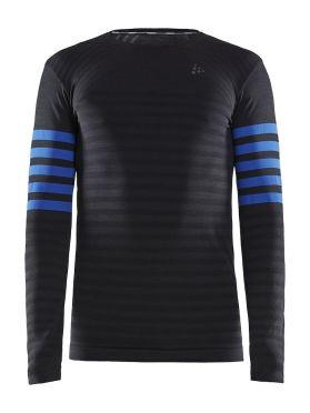 Craft Fuseknit comfort blocked lange mouw ondershirt zwart/blauw heren