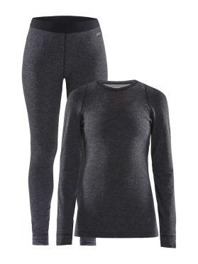 Craft Merino 180 onderkleding voordeelset zwart dames