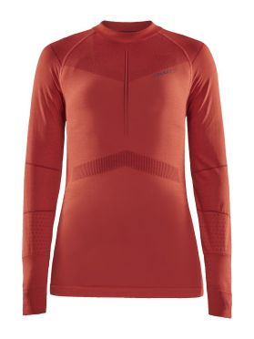 Craft Active Intensity CN lange mouw ondershirt rood dames