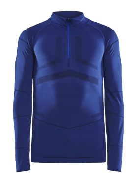 Craft Active Intensity zip lange mouw ondershirt blauw dames